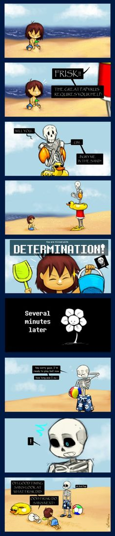 A silly little Undertale comic after a silly little idea came to mind that has to do with some really depressing stuff when you get right down to it. ;w;Original, I know. :'D *sarcasm*Undertale &#1...