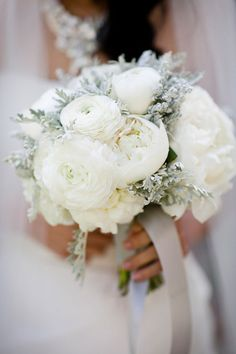 Winter Wedding | White Wedding Bouquet | Natalie Bowen Designs | Anna Kuperberg Photography | See the Wedding on SMP: http://stylemepretty.com/2011/11/07/los-gatos-wedding-by-anna-kuperberg-downey-street-events/