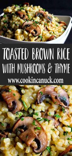 Sometimes side dishes are the best part of the meal and this Toasted Brown Rice with Mushrooms Thyme recipe definitely falls into that category 56 calories and 3 Weight Watchers SP Healthy Side Dish Gluten Free Vegetarian Vegan Recipes Rice Side Dishes, Vegan Side Dishes, Dinner Side Dishes, Vegetable Side Dishes, Side Dish Recipes, Vegetable Recipes, Food Dishes, Dinner Recipes, Side Dishes Easy