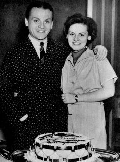 James Cagney celebrates his birthday with his little sister Jeanne, c. 1939.