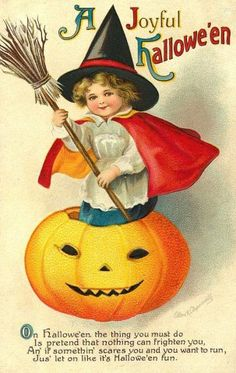 A joyful Halloween to you! #antique #vintage #Halloween #cards #postcards