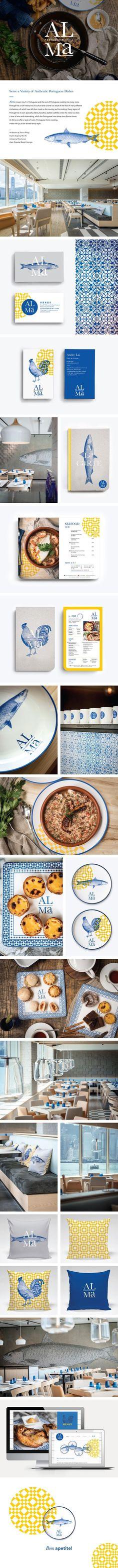 Alma Portugese Grill Restaurant Branding on Behance | Fivestar Branding –…