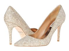 Badgley Mischka Kat Platino Glitter/Suede - Zappos.com Free Shipping BOTH Ways