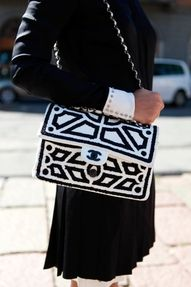 Black and white Chanel bag