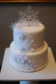 Snowflake Wedding Cake by Cake Art by Rabia
