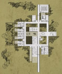 sistema arquitectura explores notions of emotion in convergence house - house architecture Porch House Plans, 4 Bedroom House Plans, Garage House Plans, Craftsman Style House Plans, Dream House Plans, Modern House Plans, Craftsman Cottage, Farmhouse Layout, Farmhouse Floor Plans