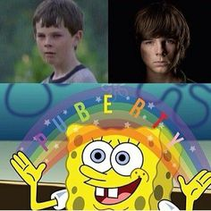 So I've watched TWD since I was ten (I know I know messed up) and Carl was literally my first crush so yeahh...