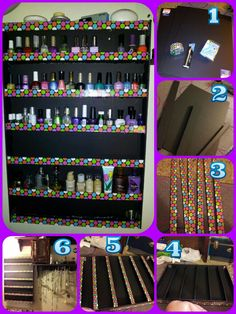 Diy nail polish rack guest tutorial rangement rangements diy nail polish rack solutioingenieria Gallery