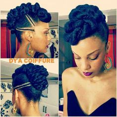 Twists make it possible for you to extend your natural hair and attach almost anything you want – from high-quality commercia… Natural Styles, Natural Hair Styles For Black Women, African Hairstyles, Twist Hairstyles, Wedding Hairstyles, Black Hairstyles, Hairstyles 2016, Pelo Natural, Natural Hair Updo