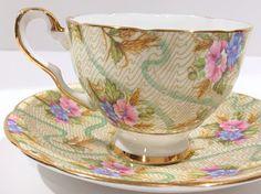 Elizabeth by Royal Stafford Tea Cup and Saucer English Bone