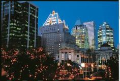"""Here's what's so great about visiting Vancouver in December: <a href=""""http://gocanada.about.com/od/vancouverwheretostay/p/fairmontvancouv.htm"""">The Fairmont Hotel Vancouver</a> gets lit up for the Christmas holidays."""
