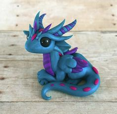Blue Winged Dragon by Dragonsandbeasties