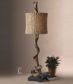Driftwood lamp, great for any buffet