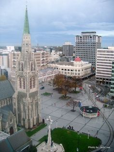 Cathedral Square Christchurch New Zealand before the earth quake.