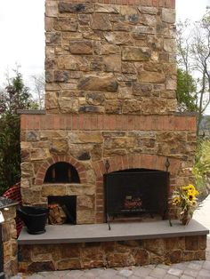 Pizza Oven Fireplace | Outdoor Spaces | Pinterest | Pizza oven ...