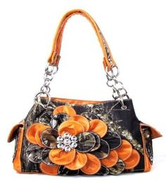 Western Orange Camouflage Flower Rhinestones Handbag -- You can find out more details at the link of the image.(This is an Amazon affiliate link and I receive a commission for the sales)