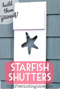 How to Build Decorative Shutters with Cutouts of Starfish