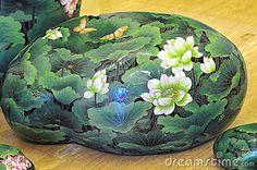 Stone Art with Lotus Flower © Jason Jung