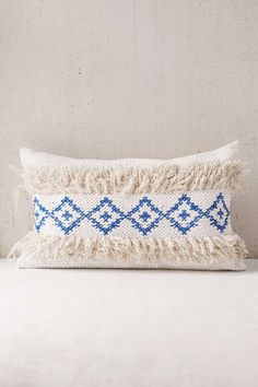 Woven Geo Tufted Bolster Pillow - Urban Outfitters