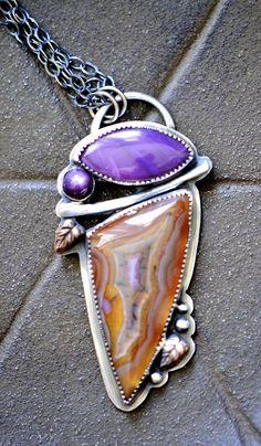 Multi stone pendant by simply_adorning