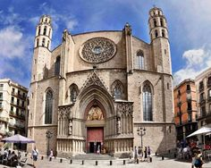Basílica de Santa Maria del Mar en Barcelona, Cataluña