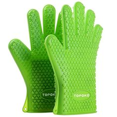 ayl silicone cooking gloves heat resistant oven mitt for grilling bbq kitchen safe handling of pots