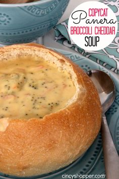 This CopyCat Panera Broccoli Cheddar Soup Recipe will be a hit with you I promise. If you love Panera Bread Broccoli Cheddar Soup you are going to be amazed on how easy it is to make at home. After enjoying the CopyCat Panera Tuna Salad Sandwich the other Copycat Panera Broccoli Cheddar Soup Recipe, Crockpot Broccoli Cheddar Soup, Panera Broccoli Cheese Soup Recipe, Healthy Broccoli And Cheese Soup, Soup And Sandwich, Salad Sandwich, Tuna Salad, Panera Bread, Gastronomia