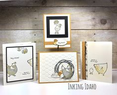 Who loves chickens? This is a stamp set called Hey, Chick and it's free through March 31st! #stampinup I need to get this set!