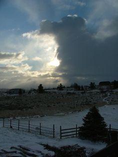 "Natural cloudscape photo taken in Billings, MT. I call this ""Grand Cloud Sunrise"""