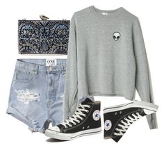 """meh"" by lalatheawesome ❤ liked on Polyvore featuring KOTUR, Abercrombie & Fitch, Converse, women's clothing, women's fashion, women, female, woman, misses and juniors"