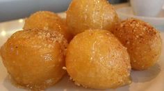 Loukoumades - A traditional Greek Recipe | Reveal Greece I always buy these at the Greek fairs! Sweet lovers will love them! Aline