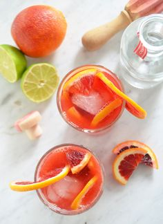 I am not that witty person to come up with clever names for themed libations but I do enjoy a simple sip to celebrate any occasion, like this Blood Orange Gin & Tonic.