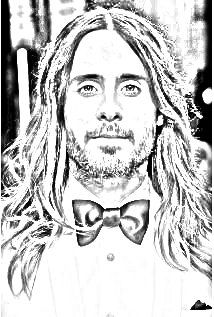 Jared Leto drawing. Upload your photo and get a drawing for free!