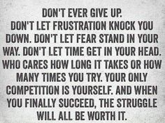 Don't Ever Give Up https://www.musclesaurus.com