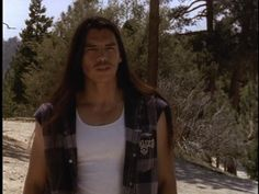 David Midthunder, Lakota actor, from the movie Red Blood AKA The Homecoming of Jimmy Whitecloud. The factory DVD is a low quality transfer from VHS and the image quality suffers immensely. He's a handsome man!