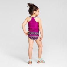 Toddler Girls' Mixed Print Tankini Set Cat & Jack - Pink 2T, Toddler Girl's