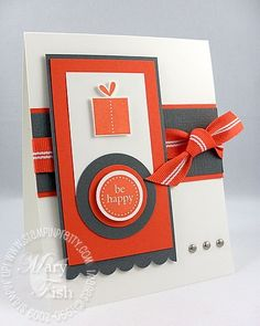 bold graphics and colors define a masculine birthday card
