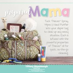 Be prepared for quick, on-the-go cleansing. Thieves Spray, Thieves Wipes and Thieves Hand Purifier are MUST HAVES in your diaper bag! And of course, don't forget Tender Tush ointment!! If you want to learn more about these amazing products, or if you are ready to get started with Young Living go to my website www.lovetheoilylife.com and click on become a member. It will then redirect you to Young Living's website to choose your kit. Distributor #1853746 Newborns   Natural Products   Baby…