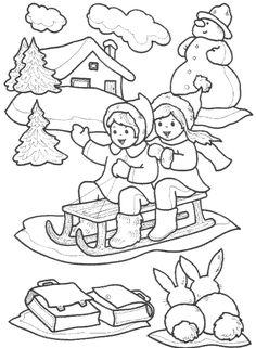Les Saisons Christmas Color Pages Coloring Pages Winter