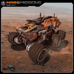 Scene realized with one of my newest 3D models (3D Max / Substance Painter). (own designs). https://www.turbosquid.com/3d-models/mars-rover-rocket-3d-model-1273944