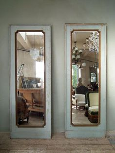 The French House Pale Blue Paints, Wooden Frames, Mirrors, Oversized Mirror, House, Fancy, The Originals, Plate, Painting