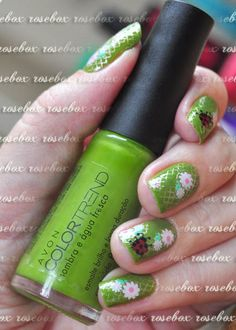 esmalte Avon sombra e agua fresca + nail art