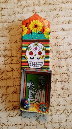 Day of the Dead altered matchbox | Flickr: Intercambio de fotos