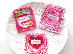 Valentine's Day Appliques Fabric Patch Valentine by Itsewbella