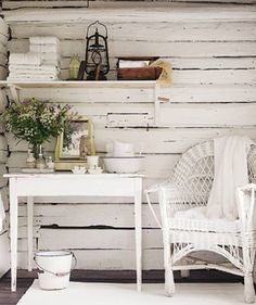 Shabby Chic comes in many forms. From what I like to call Shabby Shabby Chic where every single item of the room is either: chipped, distre. Estilo Shabby Chic, Shabby Chic Style, Shabby Chic Decor, Chabby Chic, Rustic Decor, Cottage Chic, White Cottage, Cottage Porch, Cottage Style