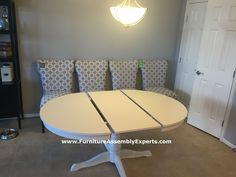 ikea ingatorp extendable dining table assembled in new york by Furniture Assembly Experts LLC