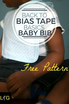 Here's a baby bib pattern that's super easy to make with just bias tape, a receiving blanket and a little bit of time.