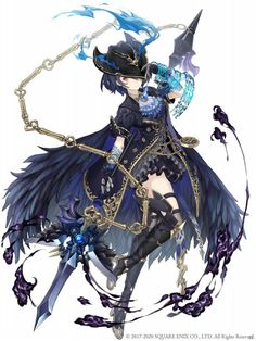 View an image titled 'Alice, Greedy Crow Paladin Job Art' in our SINoALICE art gallery featuring official character designs, concept art, and promo pictures. Fantasy Character Design, Character Design Inspiration, Character Concept, Character Art, Concept Art, Fantasy Characters, Anime Characters, Anime Weapons, Animation