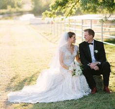 Bride and Groom at White Oaks Ranch