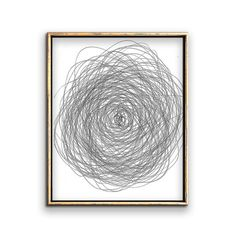 """Modern wall art printable drawing of a flower. This modern black and white minimalist sketch will look great in a gallery wall of framed neutral artwork - Please repin, favorite, or click """"Visit"""" to see more affordable art printables!"""